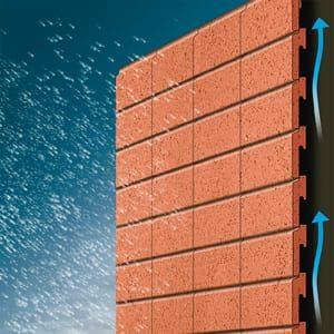 Ventilerad fasad